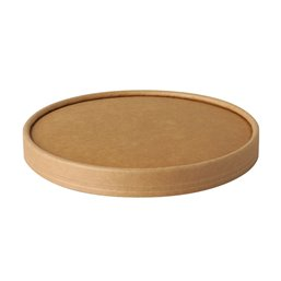 "Lid for saladbowl Cardboard ""Pure"" Round Ø 150mm Brown"