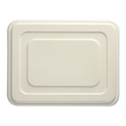 "Lid for Sugarcane Menu Trays ""Pure"" Rectangular 225 x 286 x 14mm White"