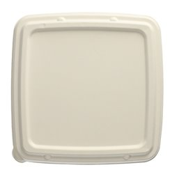 "Lid for Sugarcane Menu Trays Square ""Pure"" 236 x 236 x 20mm White"