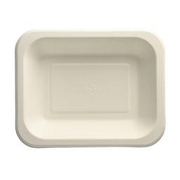 "Topseal Menu Trays Sugarcane ""Pure"" Rectangular 185 x 235 x 42mm White"