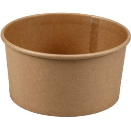 Salad bowl Kraft 1000ml 34oz Brown Ø 150 x 78mm