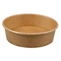 Salad bowl Kraft 500ml 17oz Brown Ø 150 x 45mm