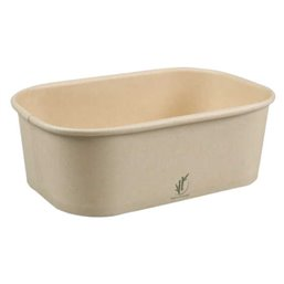 Meal trays - Kilo trays 1000ml Bamboo Paper Natural 150 x 100 x 78mm