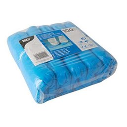 Overschoenen Blauw met Elastiek 15x7x41cm 40my Papstar