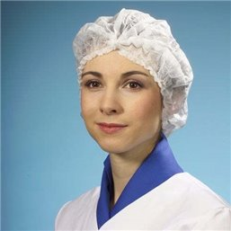Hairnets with Clip White Non Woven Papstar