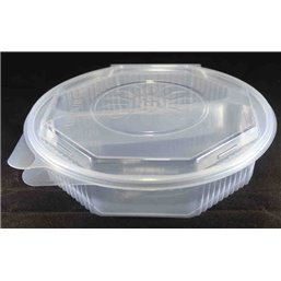 Ripboxx Meal tray 600cc + 405cc 2-Compartment PP Transparent With Tear-off hinged lid