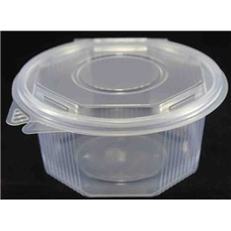 Ripboxx Salad container 750cc PP Transparent With tear-off hinged lid
