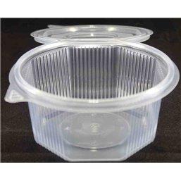 Ripboxx Saladebak 1000cc PP Transparant Met Afscheurbare klapdeksel