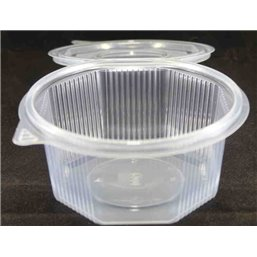 Ripboxx Salad container 500cc PP Transparent With tear-off hinged lid