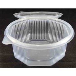 Ripboxx Salad container 375cc PP Transparent With tear-off hinged lid