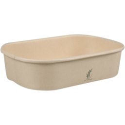 Kilo container 500cc Bamboo Paper Rectangle 173 x 120 x 43mm