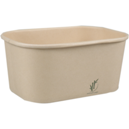 Kilo container 1000cc Bamboo Paper Rectangle 173 x 120 x 78mm