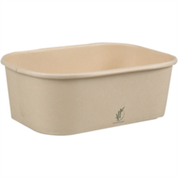 Kilo container 750cc Bamboo Paper Rectangle 173 x 120 x 59mm (Small package)