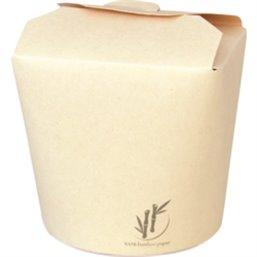 Bamboe Papier Wokbak Noodleboxen 750cc 26oz 96 x 88 x 95mm (Klein-verpakking)