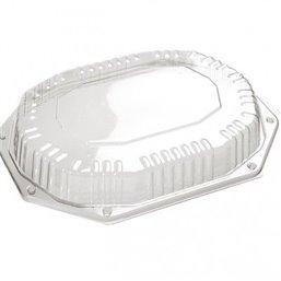 Catering Deksels - Kap voor Schaal Zwart CS 335-250 (Klikschaal) 335 x 250 x 44mm (Voor 7-vaks schaal) (Klein-verpakking)