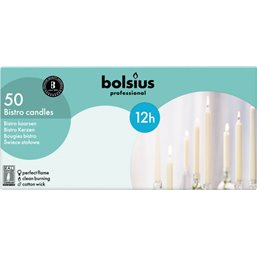 Bolsius Professional Huishoudkaars Ivoor -12 Branduren-  290/22
