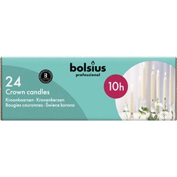 Bolsius Professional Crown candles Ivory -10 Burning hours-  240/24