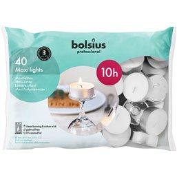 Bolsius Professional Maxilichten Wit -10 Branduren-  24/60