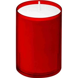 Bolsius Professional ReLight refills Red -30 Burning hours-  64/52