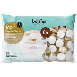 Bolsius Professional Waxine® lichten Wit -8 Branduren-  16/38