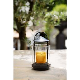 Bolsius Professional ReLight holder Lantern Anthracite 110/88