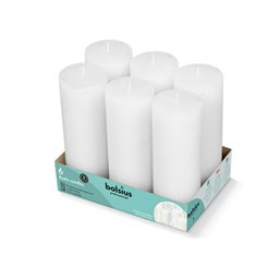 Bolsius Professional Block candle rustic Cloudy white -65 Burning hours-  190/68
