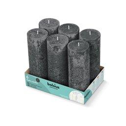 Bolsius Professional Block candle rustic Storm Gray -65 Burning hours-  190/68