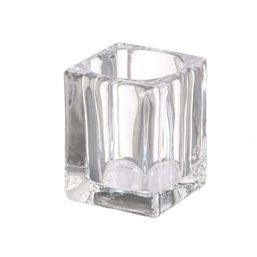 Bolsius Professional Tealight holder Square  Transparent 76/55