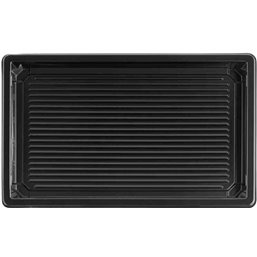 Sushi Tray Black RPET 215 x 135 x 20mm
