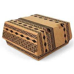 "Hamburgerboxen Maxi Karton ""Maori"" 115 x 110 x 70mm"