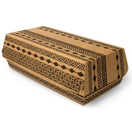 "Baguette Boxes Cardboard ""Maori"" 210 x 107 x 75mm"