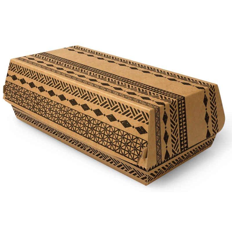 "Baguetteboxen Karton ""Maori"" 210 x 107 x 75mm"