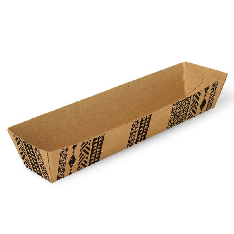 "Snackbakjes A16 Karton ""Maori"" 185 x 33 x 30mm"