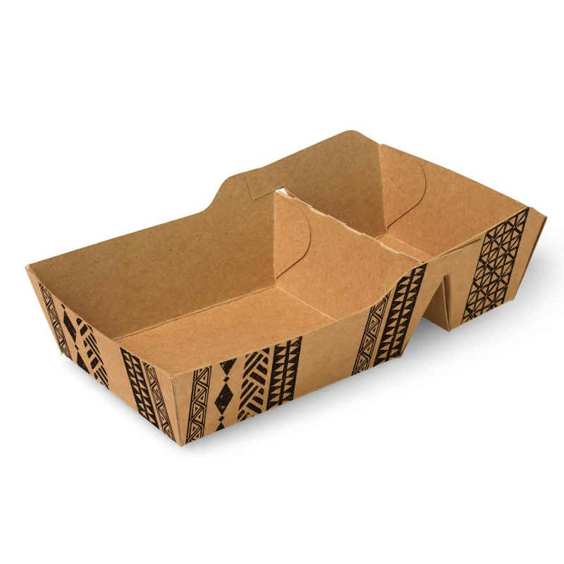 """Snackbakjes A7+1 (A23) Karton """"Maori"""" 90 x 70 x 35mm"""