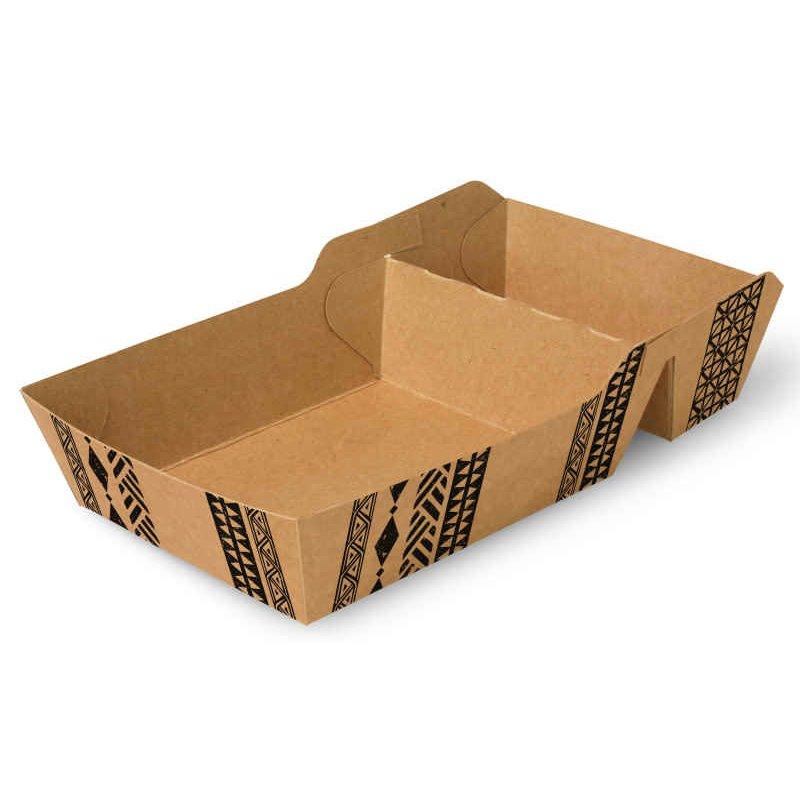 """Snackbakjes A14+1 (A20) Karton """"Maori"""" 155 x 85 x 38mm"""