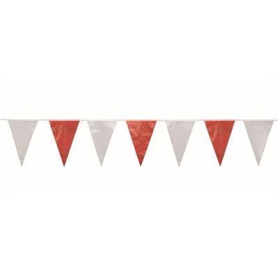 Wimpel Slinger Folie Rood Wit Waterbestendig 10 meter -horecavoordeel.com-