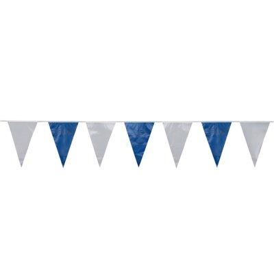 Wimpel Slinger Folie Blauw Wit Waterbestendig 10 meter -horecavoordeel.com-