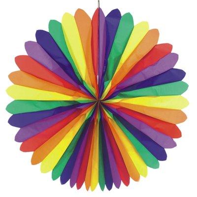 """Decoratiewaaier """"Rainbow"""" Brandvertagend Ø 1200mm -horecavoordeel.com-"""
