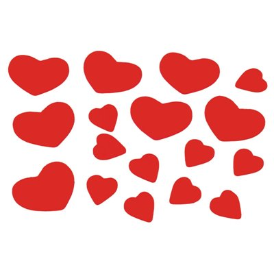 "Deco Confetti Hout ""Hearts"" 15 gram -horecavoordeel.com-"
