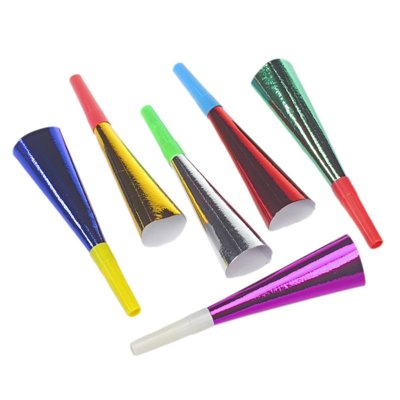 """Trompetjes 18 cm Kleuren Assortiment """"Metallic"""" -horecavoordeel.com-"""