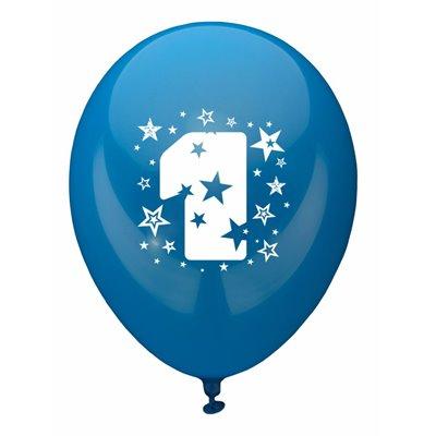 """Ballonnen Cijfer """"1"""" Kleuren Assortiment (Geschikt voor Helium) Ø 250mm -horecavoordeel.com-"""