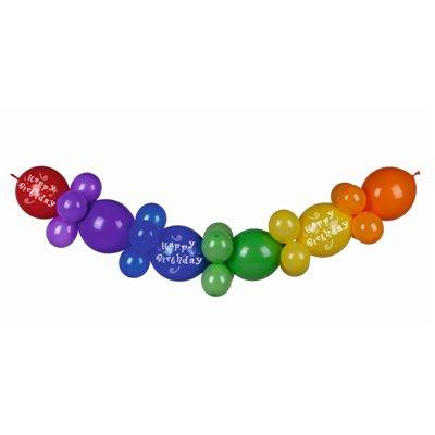 """Ballon Slinger """"Happy Birthday"""" 2meter -horecavoordeel.com-"""