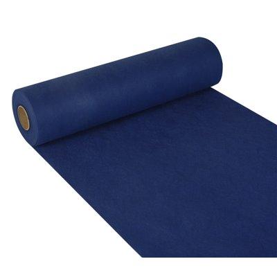 "Tafelloper Donkerblauw Non Woven ""Textielkarakter"" ""soft selection"" 24m x 400mm -horecavoordeel.com-"
