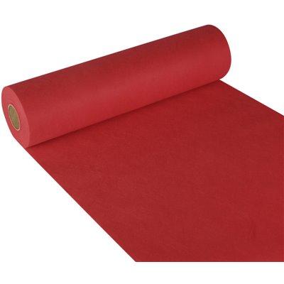 "Tafelloper Rood Non Woven ""Textielkarakter"" ""soft selection"" 24m x 400mm -horecavoordeel.com-"