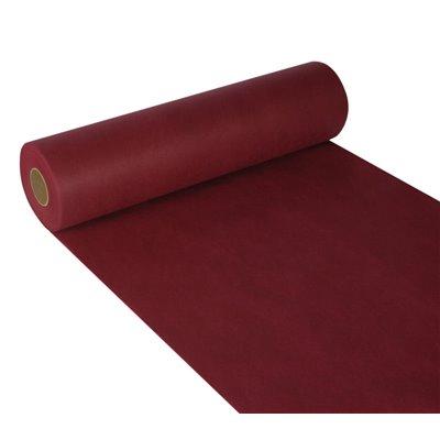 "Tafelloper Bordeaux Non Woven ""Textielkarakter"" ""soft selection"" 24m x 400mm -horecavoordeel.com-"