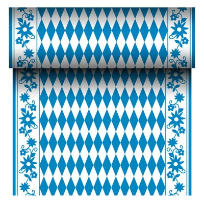 "Tafelloper Airlaid Rol ""Beiers Blauw"" 24m x 400mm -horecavoordeel.com-"