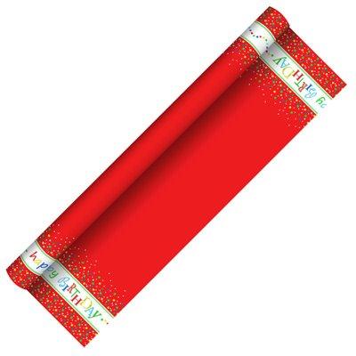 """Tafelkleed Rol Papier """"Happy Birthday"""" Met Beschermingslaag 5 x 1,2 meter -horecavoordeel.com-"""