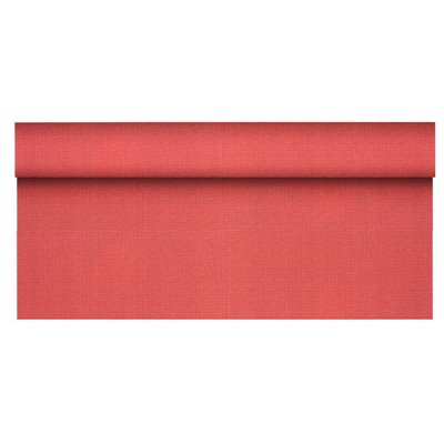 "Tafelkleed Rol Vlies Rood ""Soft Selection Plus"" 25 x 1,18 meter -horecavoordeel.com-"