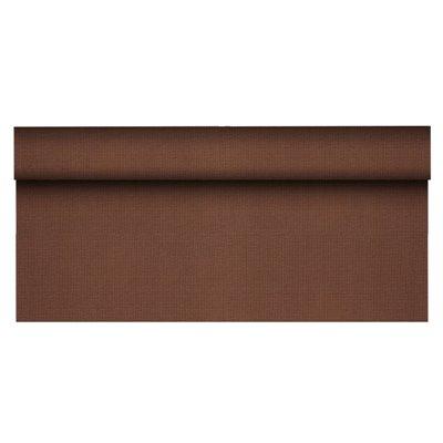 """Tafelkleed Rol Vlies Bruin """"Soft Selection Plus"""" 25 x 1,18 meter -horecavoordeel.com-"""