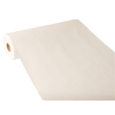"Tafelloper Wit ""Textielkarakter"" Van Pulp Viscose En Tissue Mix ""ROYAL Collection"" 24m x 400mm -horecavoordeel.com-"